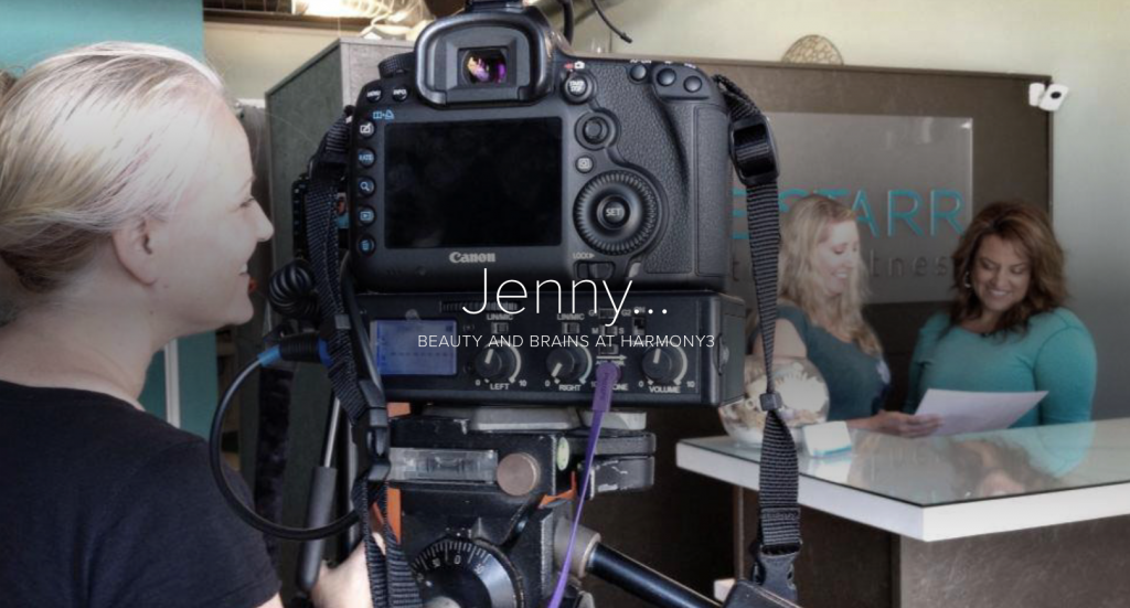 H3 Jenny web page made with Adobe Spark